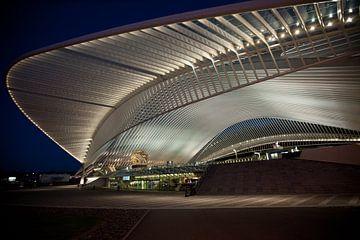 Station Luik bij nacht