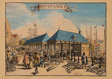 Rotterdam, 1695, de Vismarkt van Atelier Liesjes