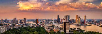 Rotterdam Skyline Panorama vanaf Euromast 3:1 van Vincent Fennis