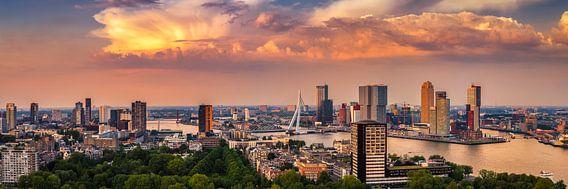 Rotterdam Skyline Panorama vanaf Euromast 3:1