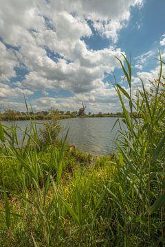 Mill de Steendert mit schönem Wolkenhimmel von Moetwil en van Dijk - Fotografie