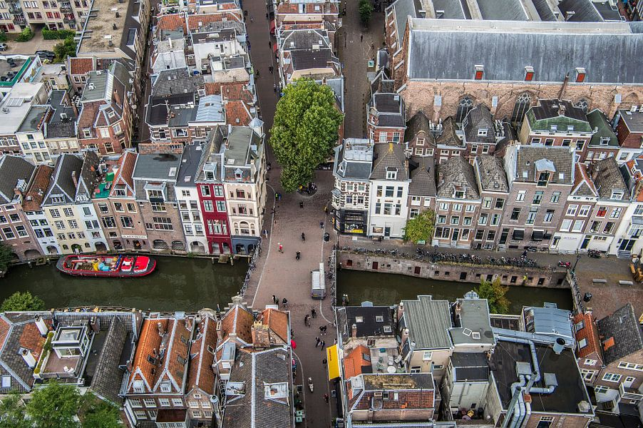 Uitzicht van de Domtoren over Utrecht
