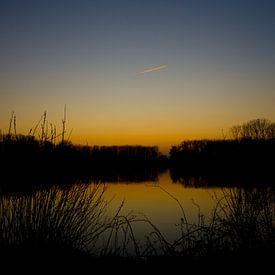 Zonsondergang aan De Gavers van Ronald De Neve