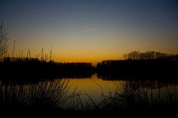 Zonsondergang aan De Gavers van