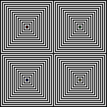 Genesteld | Center | 02x02 | N=14 | RGBY van Gerhard Haberern