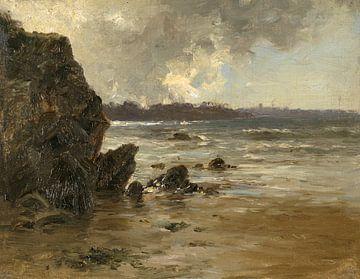 Carlos de Haes Landschaft am Meer, Antike Landschaft