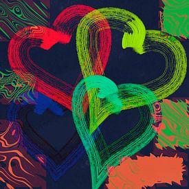 Colorful hearts 2 von Rosi Lorz