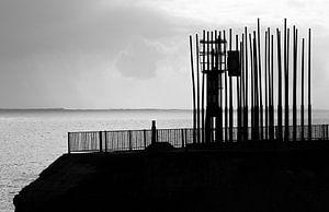 Silhouet van het windorgel van Vlissingen