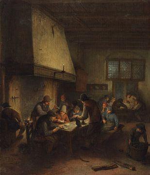 Szene in einem Gasthof, Adriaen van Ostade