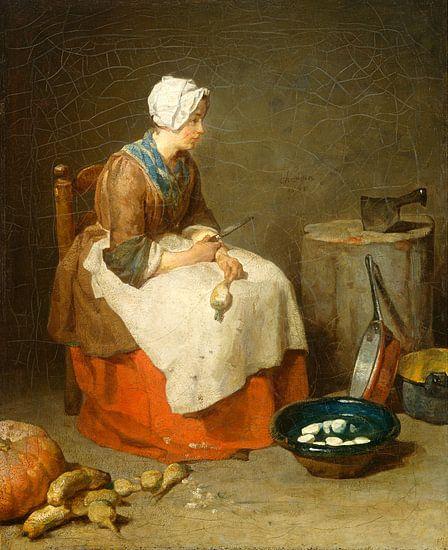 Het keuken meisje, de dienstbode, Jean Siméon Chardin van Liszt Collection