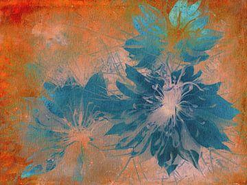 Meid in het Groen Oranje Turquoise van Claudia Gründler