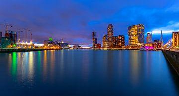 Panoramaskyline Kop van Zuid und Katendrecht, Rotterdam von Martijn Mureau