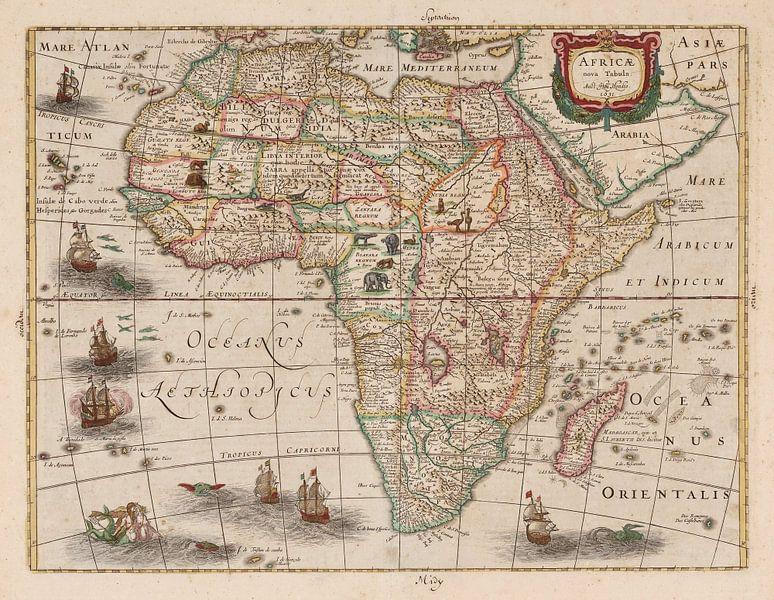 Karte von Afrika (Africae nova tabula) von Rebel Ontwerp