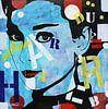 """Audrey Hepburn """"Romantik"""" von Kathleen Artist Fine Art Miniaturansicht"""