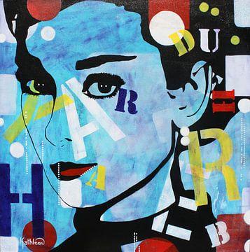 """Audrey Hepburn """"Romantiek"""" van Kathleen Artist Fine Art"""