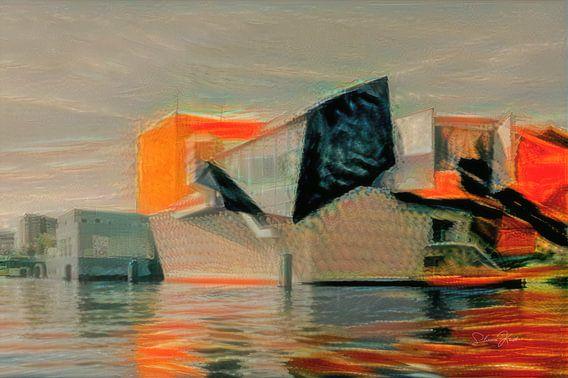 Kunstwerk van Groninger Museum in de stijl van Munch