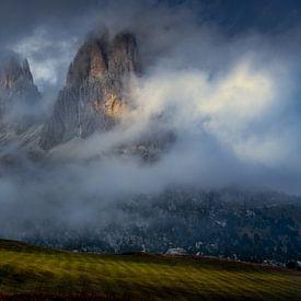 Val Gardena in de wolken van Rene Siebring