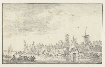 Gezicht op Delft, Jan van Goyen