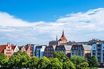 Blick auf historische Gebäude in der Hansestadt Rostock von Rico Ködder