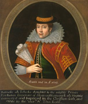 Pocahontas, unbekannter Künstler