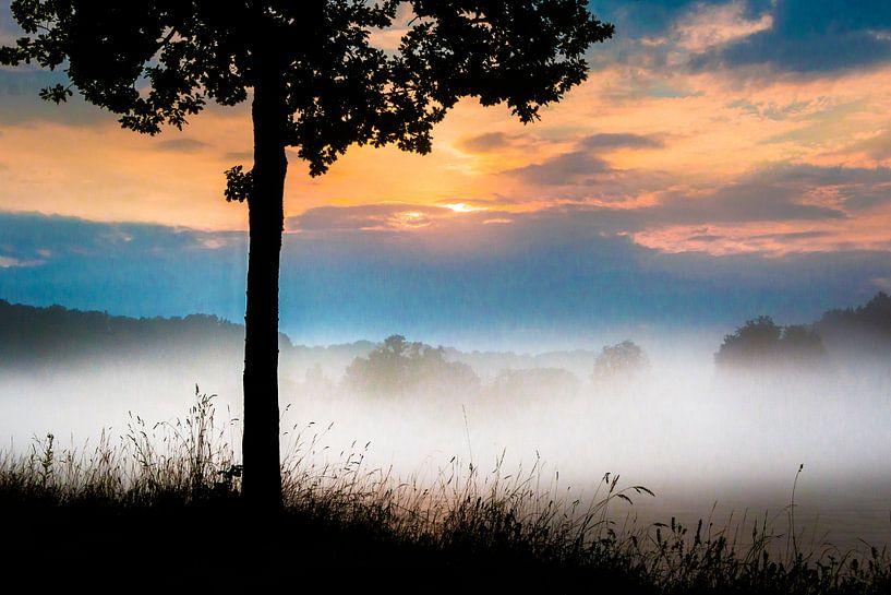 Nebel am Fluß van Holger Debek