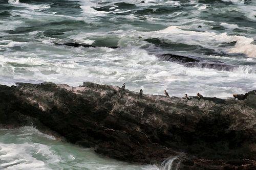 Rots in een woeste zee