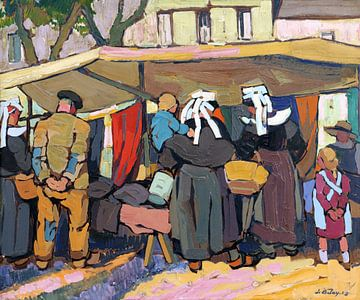 Markt in der Bretagne, Pierre DE BELAY von Atelier Liesjes