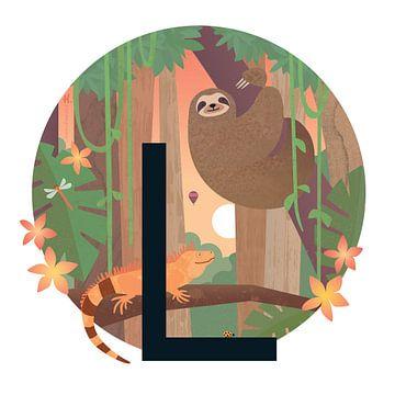 L : Paresseux et l'iguane sur Hannahland .