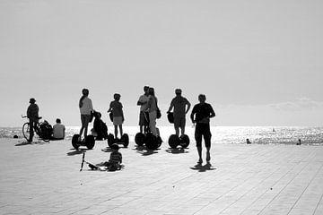 Segways in Barcelona van Maren Oude Essink