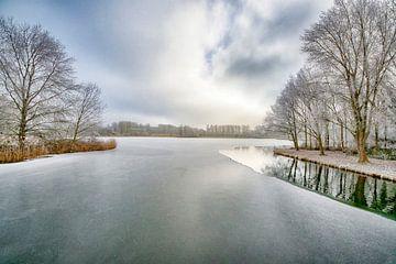 Ein schöner Wintertag in Almere von Peter Bartelings Photography
