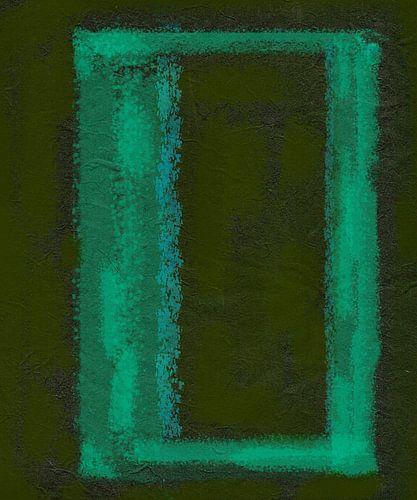 Frame in abstractie, groen