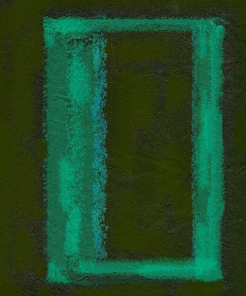 Frame in abstractie, groen van Rietje Bulthuis