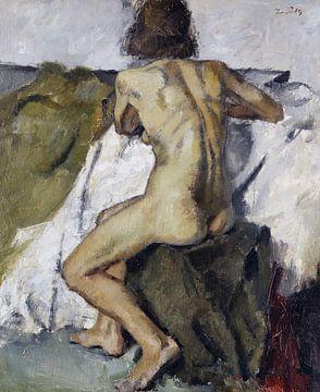 Sitzender weiblicher Rückenakt, LEO PUTZ, Um 1891 von Atelier Liesjes