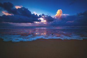 Lumière du soir sur la plage