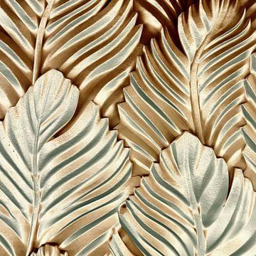 Abstrakte Palmenblätter in Gold von Maurice Dawson