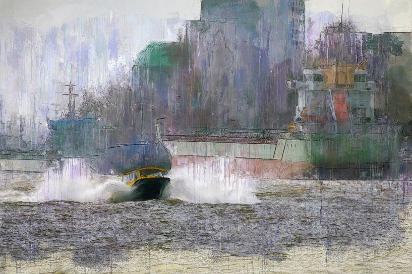 Wassertaxi Rotterdam von Arjen Roos
