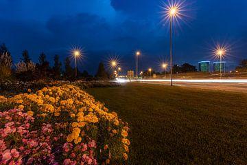 Blumenbeet an der Schlosskreuzung Wolfsburg von Marc-Sven Kirsch