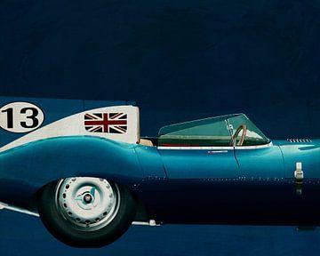 Jaguar Typ D 1956 Rechter Seitenteil von Jan Keteleer