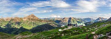 Panorama Mindelheimer Hütte van Coen Weesjes