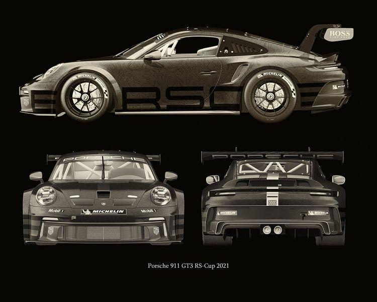 Porsche 911 GT-3 RS - Cup 2021 zijden van Jan Keteleer