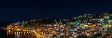 Ulcinj (Montenegro) bij nacht van Werner Lerooy