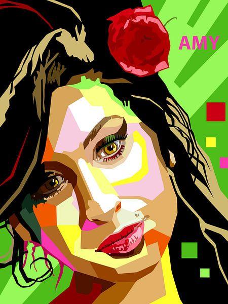 Pop Art Amy Winehouse van Jan Willem van Doesburg