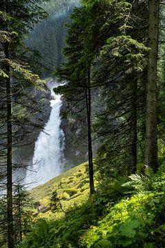 Krimmler Wasserfälle in Salzburgerland van Melissa Peltenburg