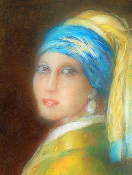 Meisje met de Parel. (1) van Ineke de Rijk
