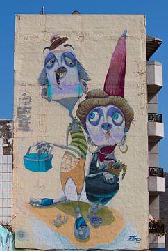 Muurschildering van Anita van Gendt