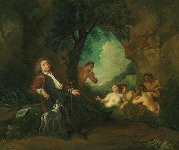 Porträt von Antoine de la Roque, Jean Antoine Watteau, 1718