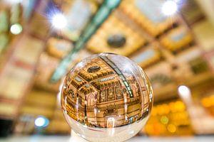 Groningen Hoofdstation in de glazen bol  van