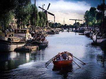 Delftshaven Rotterdam van Antonie van Gelder Beeldend kunstenaar