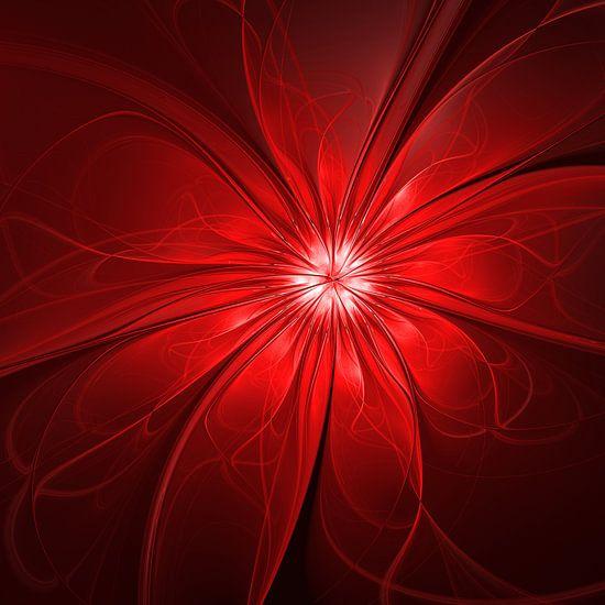 Abstract Red Flower van gabiw Art