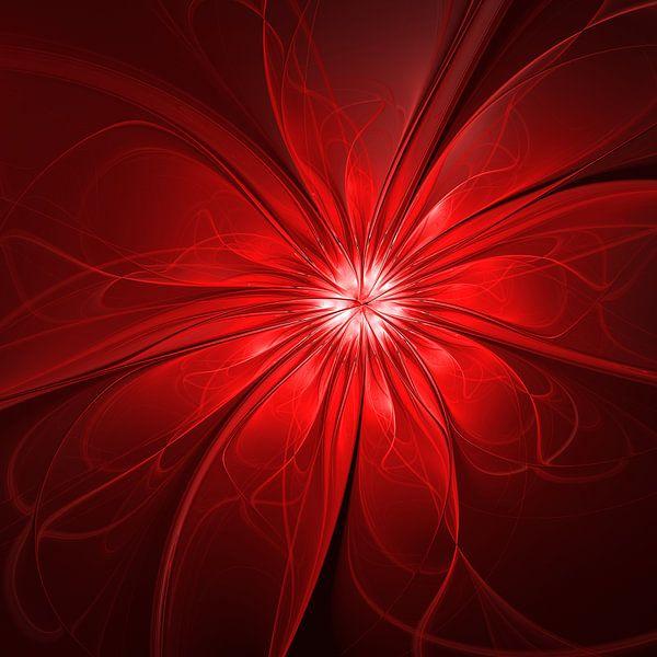Rote Blume abstrakt von gabiw Art